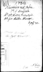Alessandro nell'Indie, dramma per musica di Pietro Metastasio fra gli Arcadi Artino Corasio. Da rappresentarsi nel Teatro di S. Angelo nel carnovale dell'anno 1732
