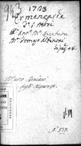 L' Ermengarda, dramma per musica da rappresentarsi nell'autunno 1723 nel Teatro Giustiniano di S. Moise'