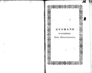 Gusmano D'Almeida ossia Il rinnegato portoghese : azione mimico-drammatica in cinque atti
