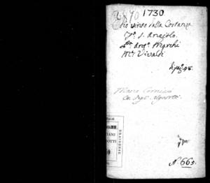 L'odio vinto dalla costanza, dramma per musica da rappresentarsi nel Teatro di Sant'Angelo il carnovale dell'anno 1731, di Antonio Marchi, didicato a S. E. Maria Civran Labia