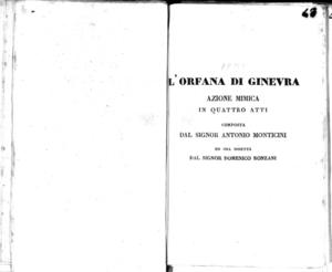 Il conte Ory, melodramma giocoso da rappresentarsi nell'I. R. Teatro alla Canobbiana la primavera del 1830