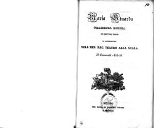 Maria Stuarda : tragedia lirica in quattro parti