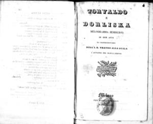 Torvaldo e Dorliska : melodramma semiserio in due atti
