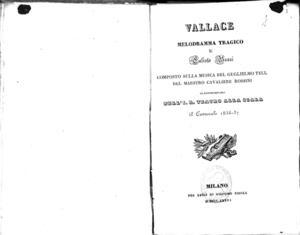 Vallace : melodramma tragico