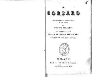 Il corsaro : melodramma romantico in tre parti
