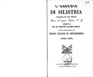 L'assedio di Silistria : cantata in due parti