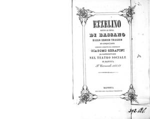 Ezzelino sotto le mura di Bassano : ballo eroico targico in cinque atti