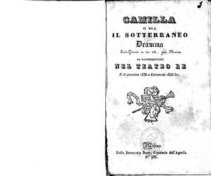 Camilla o sia il sotterraneo : dramma serio-giocoso in tre atti per musica