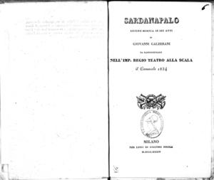 Sardanapalo : azione mimica in sei atti