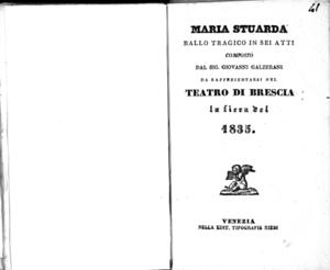 Maria Stuarda : ballo tragico in sei atti