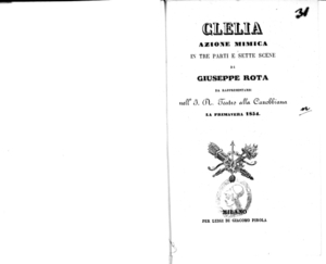 Clelia : azione mimica in tre parti e sette scene