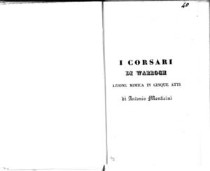 Chiara di Montalbano in Francia : melodramma semiserio in due atti