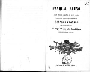 Pasqual Bruno : ballo storico romantico in sette quadri