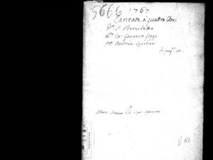Cantata a quattro voci in occasione della festa di ballo fatta per sua altezza serenissima il duca regnante di Wirtembergh [...] da N.N.U.U. deputati in Venezia nel Teatro di S. Benedetto il giorno 11 febbraro 1767