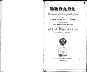 Ernani : dramma lirico in quattro parti