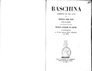 Baschina : libretto in tre atti