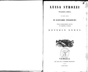 Luisa Strozzi : tragedia lirica in due atti