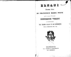 Ernani : dramma lirico