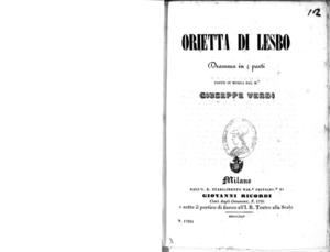 Orietta di Lesbo : dramma in 4 parti