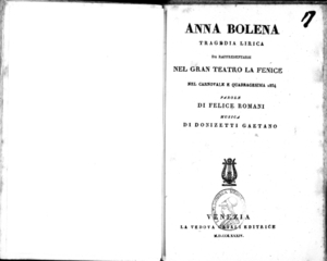 Anna Bolena : tragedia lirica