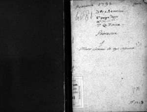 Tito e Berenice, dramma per musica di Giuseppe Foppa da rappresentarsi nel nuovo e nobilissimo Teatro detto La Fenice la Fiera dell'Ascensione dell'anno 1793