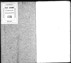 Il trionfo della gloria nelle mestitie del Brenno, publicato [!] con armonici applausi dalla Fama in occasione dell'accademia fatta dal sig. conte Antonio Grumello per la prossima partenza da questo reggimento dell'[...]...