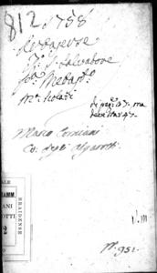 Artaserse, dramma per musica da rappresentarsi nel Teatro Vendramin di S. Salvatore nella Fiera del'Ascensione dell'anno 1758
