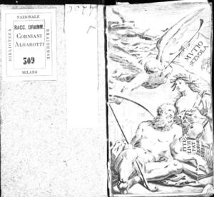 Il Muzio Scevola, drama per musica da recitarsi nel Teatro del Falcone l'anno 1688. Dedicato all'[...] signore il signor Marc'Antonio Grillo [...]