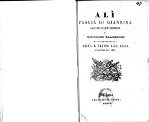 Alí Pascià di Giannina : azione pantomimica