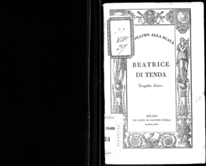 Beatrice di Tenda : tragedia lirica in due atti