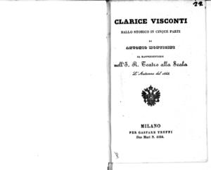 Clarice Visconti : ballo storico in cinque parti