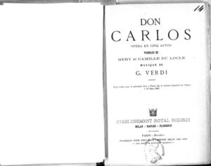 Don Carlos : opéra en cinq actes