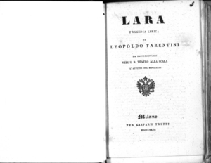 Lara : tragedia lirica