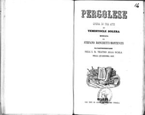 Pergolese : opera in tre atti