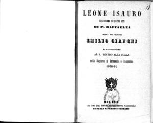 Leone Isauro : melodramma in quattro atti