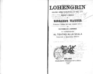 Lohengrin : grande opera romantica in tre atti