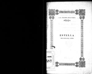 Estella : melodramma serio