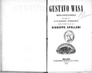 Gustavo Wasa : melodramma