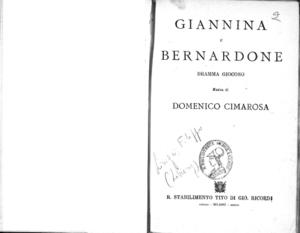 Giannina e Bernardone : dramma giocoso