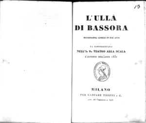 L' Ullà di Bassora : melodramma comico in due atti
