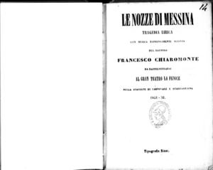 Le nozze di Messina : tragedia lirica