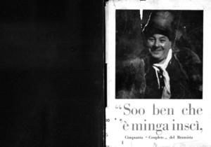 Soo ben che l'è minga inscì : cinquanta couplets del brumista del piccaprej de la piazza del Domm e del pa' de famiglia ...