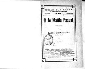 Il fu Mattia Pascal. 1