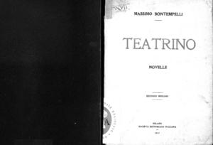 Teatrino : novelle