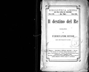 Il destino del re : romanzo