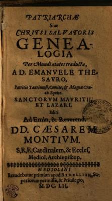 Patriarchae sive Christi Salvatoris genealogia per mundi aetates traducta