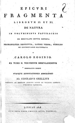Fragmenta librorum II et XI de natura