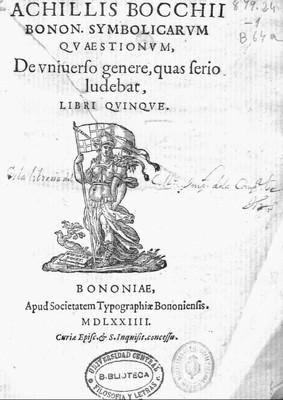 Achillis Bocchi Bonon. Symbolicarum quaestionum, de vniuerso genere, quas serio ludebat