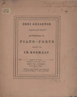 Three songs = Drei Gesaenge