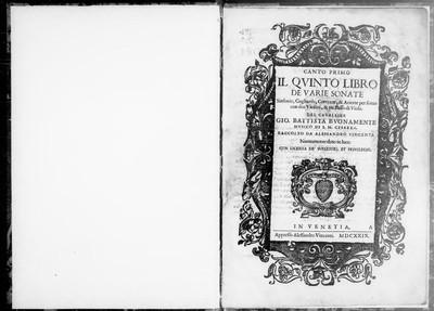 Il quinto libro de varie sonate [...]